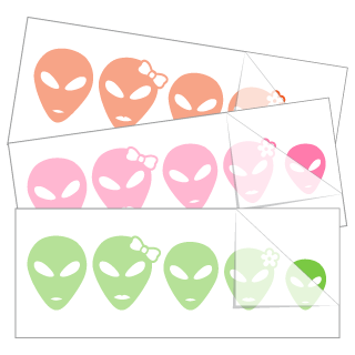 Alien Family Stickers and Decals