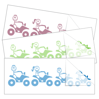 ATV Four Wheeler Family Stickers and Decals
