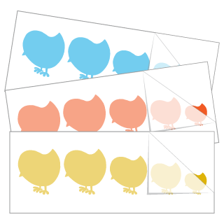 Baby Chick Family Stickers and Decals