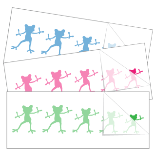 Dancing Frog Family Stickers and Decals