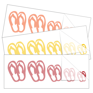 Flip Flop Family Stickers and Decals