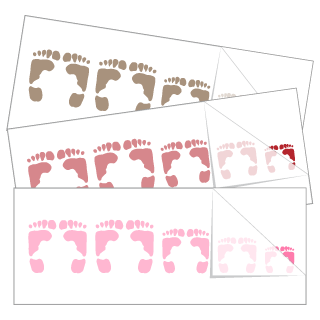Footprint Family Stickers and Decals