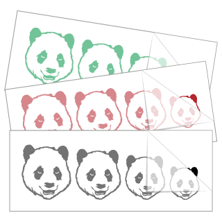 Panda Bear Family Stickers and Decals