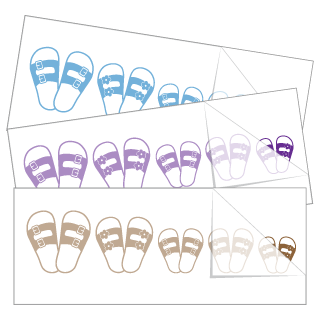 Sandals Family Stickers and Decals