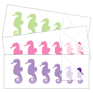 Seahorse Family Stickers and Decals