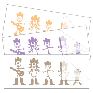 Country Western Family Stickers and Decals