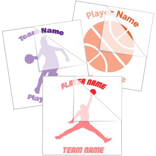 Basketball Fundraiser Stickers