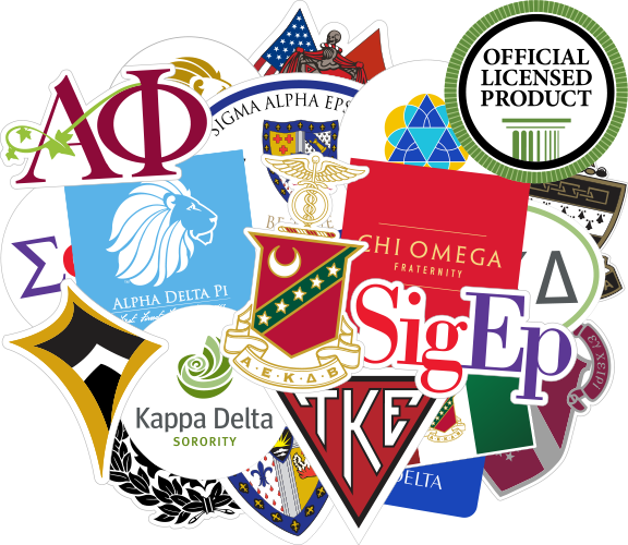 Licenced Fraternity & Sorority Stickers and Decals
