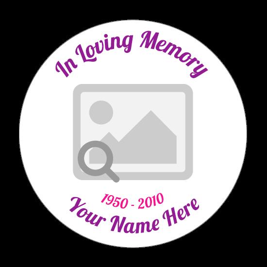 In Loving Memory Circle Sticker