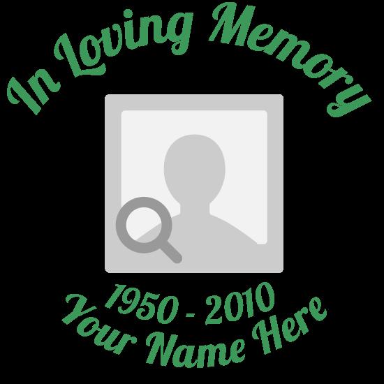 Custom Multi-Color In Loving Memory Transfer Stickers