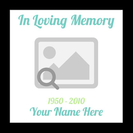 Custom In Loving Memory Rectangle Stickers