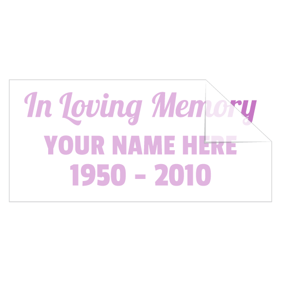 Custom In Loving Memory Sticker with Your Text