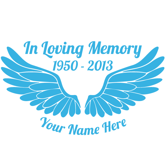 Custom In Loving Memory Sticker with Your Image