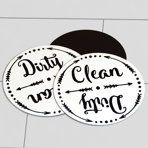 Clear Diry Magnets