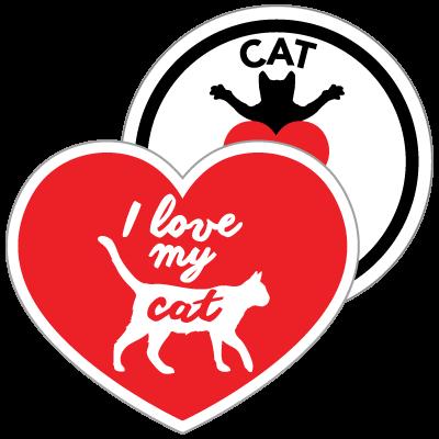 I Love My Cat Magnets
