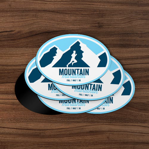 Mountain Oval Magnets