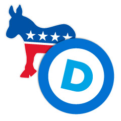 Democratic Party Political Stickers