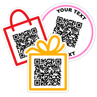 SMS QR Code Stickers